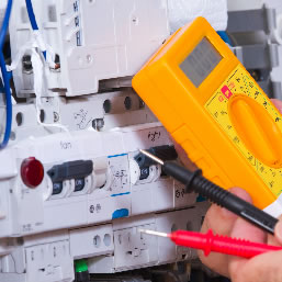 Electrical equipment being tested