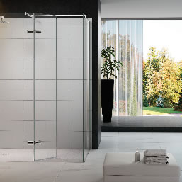 luxury bathroom, with large shower